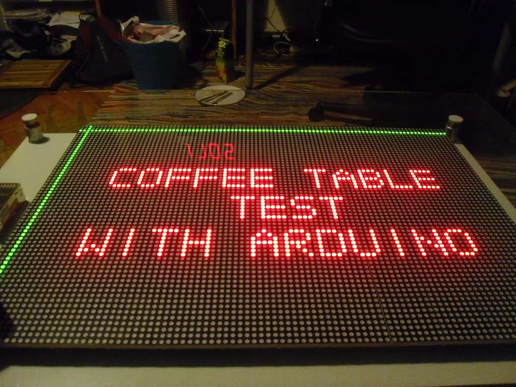 Arduino IKEA Coffee table hack