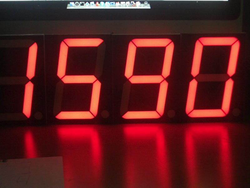 Big 7-segment Display Clock