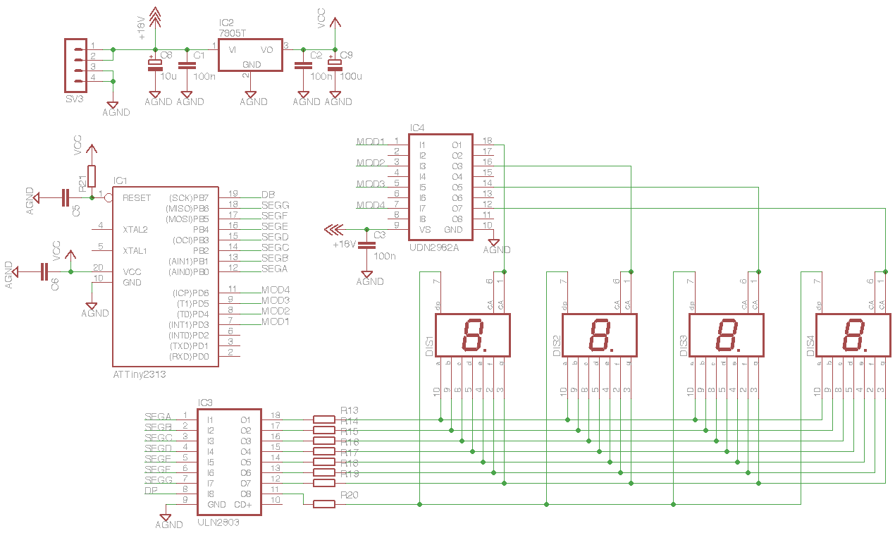 A Question About Driving Large 7 Segment Displays Avr Freaks Display Circuit Diagram Image Result For Microcontroller Drive